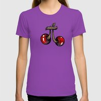 Cherry Pie Womens Fitted Tee Ultraviolet SMALL