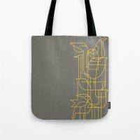 Geometric Birds Tote Bag