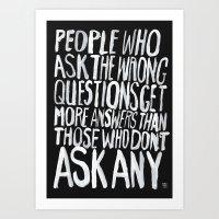 ANSWERS Art Print
