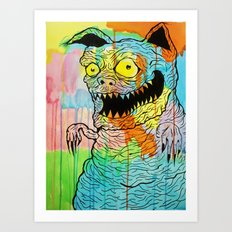 Pig Kitty Art Print