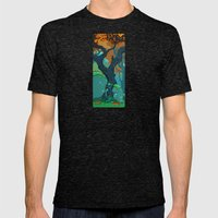 End of Fall Mens Fitted Tee Tri-Black SMALL