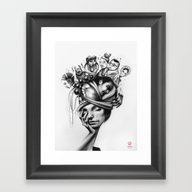 Framed Art Print featuring Asleep by Vanessa Dakinsky
