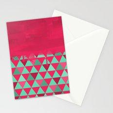 Triangle Dip Fushia Stationery Cards