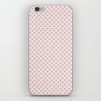 Taupe Polka Dots on Pink iPhone & iPod Skin