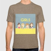 GIRLS Mens Fitted Tee Tri-Coffee SMALL