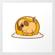 Art Print featuring Puglie Egg by Puglie