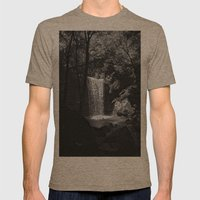 Ohiopyle's Cucumber Falls Mens Fitted Tee Tri-Coffee SMALL