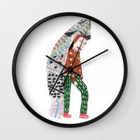 Fish Man Wall Clock