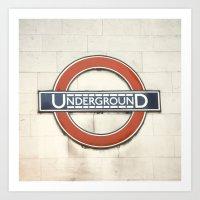 Underground - London Met… Art Print