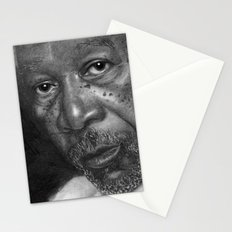 Morgan Freeman Traditional Portrait Print Stationery Cards
