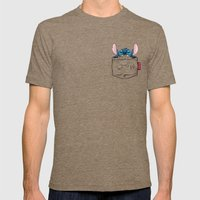 ImPortable Stitch... Mens Fitted Tee Tri-Coffee SMALL