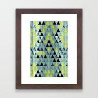 Triangle Rivers Framed Art Print
