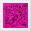 LOVE Out Loud Pink and Proud! Art Print
