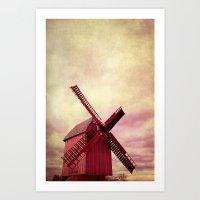 Pink Mill Art Print