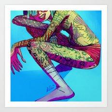Tattooed Neonka Art Print