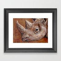 Rhinoceros Portrait Framed Art Print