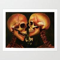Skull Secrets Art Print