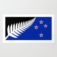 NZ flag (that nearly made it) 2016 Art Print
