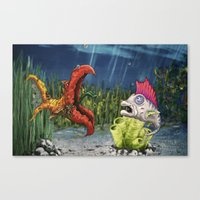 Mutant And Punk Fish Canvas Print