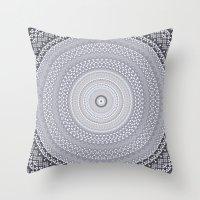 Kaleidoscope Greys Patte… Throw Pillow