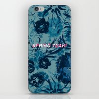 Spring Yeah! - Blue Flowers iPhone & iPod Skin