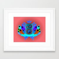 Framed Art Print featuring Music King by dTydlacka