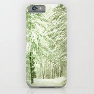 Winter Pine Trees iPhone 6 Slim Case