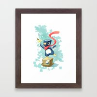 Party Penguin Framed Art Print