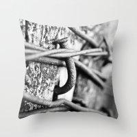 Nail Throw Pillow
