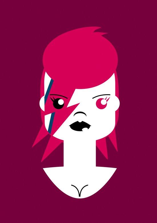 Ziggy Stardust (Bowie) Art Print