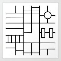 PS Grid Art Print