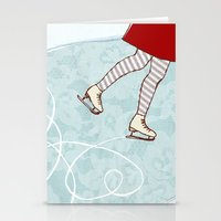 Ice Skating Stationery Cards