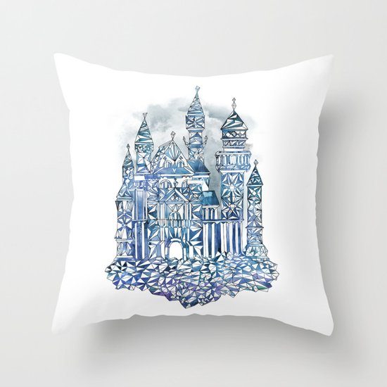 Crystal Castle Throw Pillow