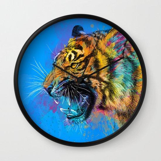 Angry Tiger Wall Clock