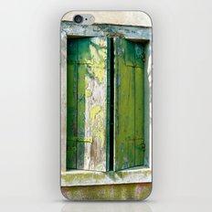 Old green window iPhone & iPod Skin