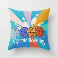 Cosmic Bowling Throw Pillow