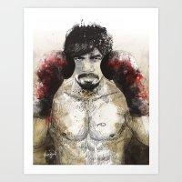 Manny Pacquiao - Bloody … Art Print
