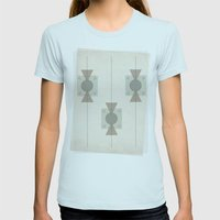Pattern Womens Fitted Tee Light Blue SMALL