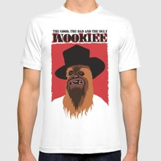 The Good, The Bad and The Ugly Wookie White SMALL Mens Fitted Tee