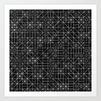 Black And White Random G… Art Print