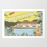 The Amazon Queen Art Print