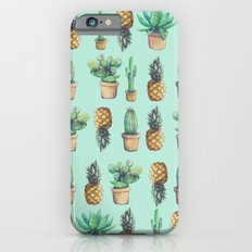 cactus and pineapples blue  iPhone 6 Slim Case