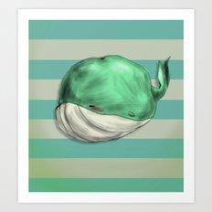 Tubby Sketch Whale Art Print