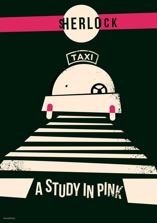Sherlock S01E01: A Study In Pink Art Print