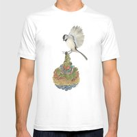 Quilted Bundles: The Bird I Mens Fitted Tee White SMALL