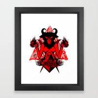 Blackmagic.red Framed Art Print