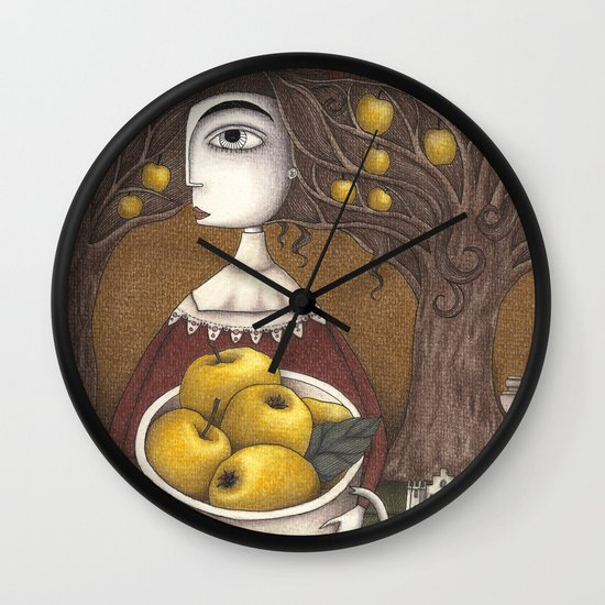 Portrait of an Apple Orchard Wall Clock