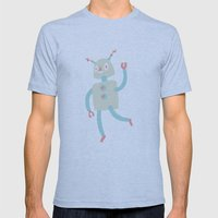 Robot Love Mens Fitted Tee Athletic Blue SMALL