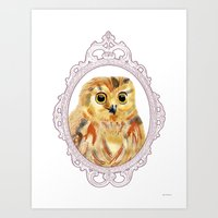 A Portrait of an Owl Art Print