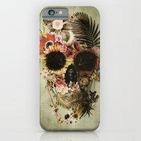 skull iPhone & iPod Cases featuring Garden Skull Light by Ali GULEC